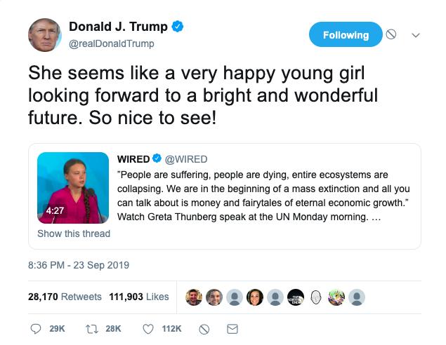 the infamous & ignorant donald trump tweet